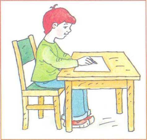 Картинка как ребенок сидит за партой