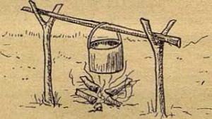 Рис. 15. Неудобный способ подвески котелка