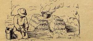 Рис. 16. Очаг из дерна