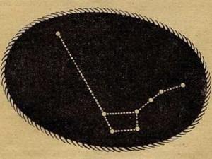 Рис. 21. Две левые звезды Большой Медведицы прямо указывают на Полярную