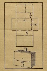 Рис. 2. Выкройка и общий вид аптечки (размеры даны в сантиметрах).