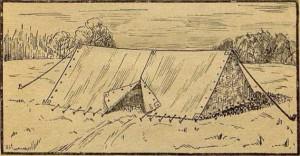 Рис. 6. Палатка со входом посредине